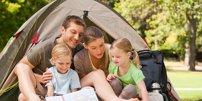 When camping saves your life…