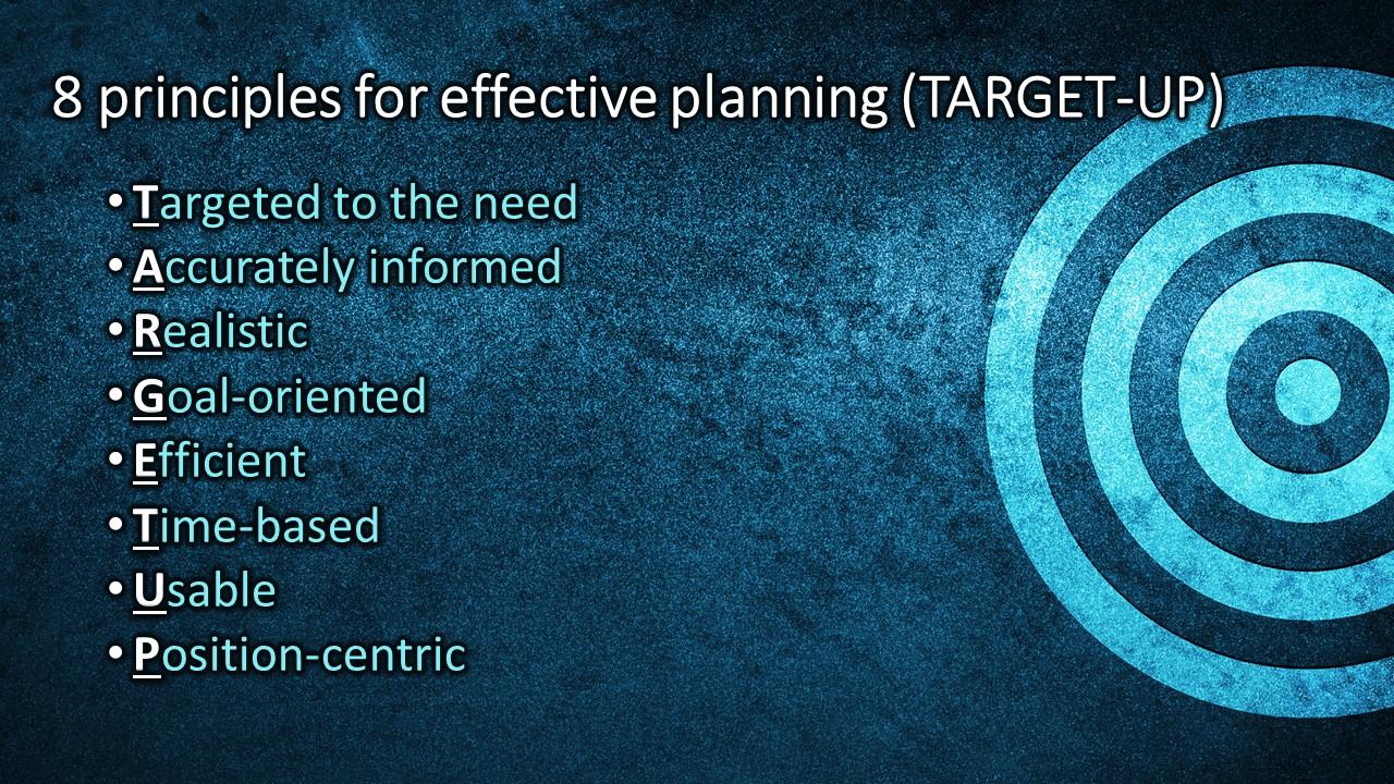 """TARGET UP"" for effective disaster plans"